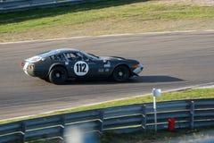 Klasyka popielaty samochód wyścigowy podczas historycznego uroczystego prix Obrazy Stock