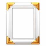 klasyka ramowy złocisty obrazka biel Zdjęcia Royalty Free