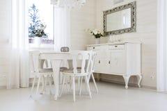 Klasyka stół z krzesłami Obraz Royalty Free
