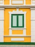 Klasyka styl Drewniany okno Zdjęcia Royalty Free