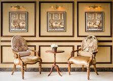 Klasyka stylowego rocznika drewniany krzesło Zdjęcia Royalty Free