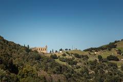 Klasztor San Francescu blisko Castifao w Corsica zdjęcia royalty free