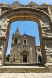 Klasztor St Agostiniano w Forza d'Agro, Sicily Zdjęcia Stock