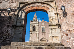Klasztor St Agostiniano w Forza d'Agro, Sicily Obrazy Royalty Free
