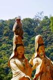 klasztoru buddhas 10 tysięcy zdjęcie stock