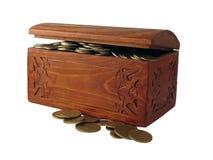 klatek piersiowych monety Fotografia Stock