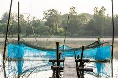Klatka dla rybiego gospodarstwa rolnego Fotografia Royalty Free