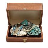 klatka piersiowa folujący biżuterii skarby Zdjęcia Stock