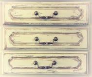 Klatka piersiowa kreślarzi, czerep, rocznik, retro Fotografia Stock