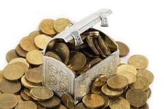 klatka piersiowa pieniądze Zdjęcia Stock