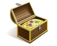 Klatka piersiowa złoto Zdjęcia Stock