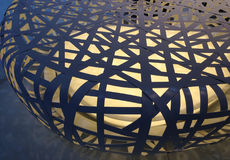 Klatki oświetlenia kształt Wyplata wzór Zdjęcia Royalty Free