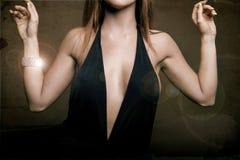 klatki piersiowej breat sukni biżuteria Obraz Stock