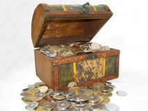 klatki piersiowej moneta Fotografia Stock