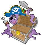 klatki piersiowej ośmiornicy pirat Obraz Royalty Free
