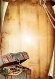 klatki piersiowej stary papierowy tekstury skarb Zdjęcia Stock