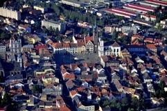 Klatovy city - air photo Stock Photo