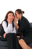 Klatsch mit zwei Mädchen lizenzfreie stockbilder