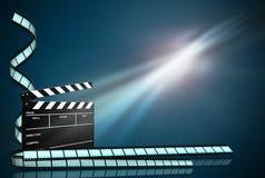 Klatschen Sie Vorstandameisen-Filmstreifen auf dunkelblauem Hintergrund Lizenzfreie Stockbilder