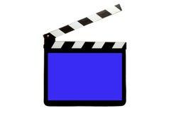 Klatschen-Vorstand mit blauem Bildschirm Lizenzfreies Stockbild