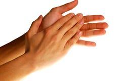 Klatschende Hände Lizenzfreie Stockfotos