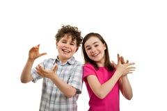 Klatschende Kinder Lizenzfreie Stockbilder