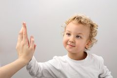 Klatschenhände. Lizenzfreies Stockbild