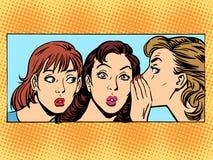 Klatschfrauenfreundin lizenzfreie abbildung