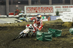 Klatt polvoriento en los supermotocross 2009 Imágenes de archivo libres de regalías