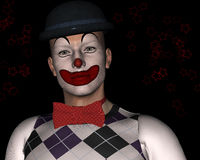 klaun Fotografia Stock