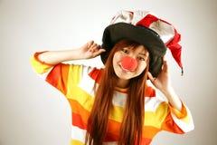 klaun azjatykcia dziewczyna Zdjęcia Stock