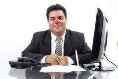 klaun biznesmena Obrazy Royalty Free