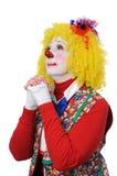 klauna, modląc się Zdjęcia Royalty Free