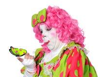 klauna motyla patrzy Zdjęcie Royalty Free
