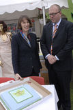 Klaus Bondam Lord mayor and Jacqueline McGolde Stock Photo