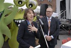 Klaus Bondam Lord mayor and Jacqueline McGolde Royalty Free Stock Photo
