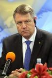 Klaus Iohannis - presidente de Rumania fotografía de archivo