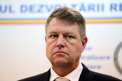 Klaus Iohannis, prime vicepresident of Romanian National Liberal Party Royalty Free Stock Images