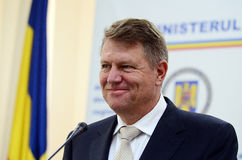 Klaus Iohannis, prime vicepresident of Romanian National Liberal Party Royalty Free Stock Photos