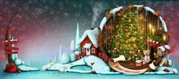 klaus santa för frost för påsekortjul sky Arkivfoto