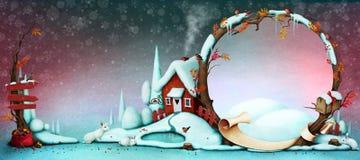 klaus santa för frost för påsekortjul sky Royaltyfri Bild