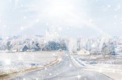 klaus santa för frost för påsekortjul sky Arkivbild