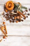 klaus santa för frost för påsekortjul sky Arkivfoton