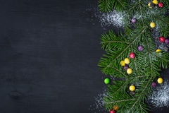 klaus santa för frost för påsekortjul sky Utrymme för text Arkivfoto