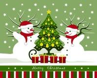 klaus santa för frost för påsekortjul sky royaltyfri illustrationer