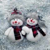 klaus santa för frost för påsekortjul sky Roliga snowmen Royaltyfri Bild