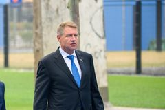 Klaus Werner Iohannis, President of Romania. 12.07.2018. BRUSSELS, BELGIUM. Klaus Werner Iohannis, President of Romania , during World leaders Arriving to NATO royalty free stock photography