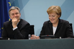 Klaus Wowereit, Angela Merkel Royalty Free Stock Image