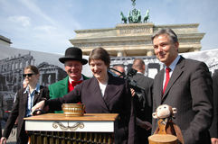 Klaus Wowereit, Helen Clark Royalty Free Stock Images