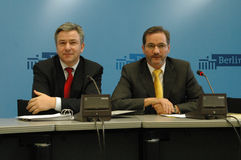 Klaus Wowereit, Matthias Platzeck Stock Photography